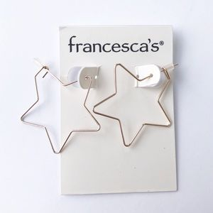 Francesca's Gold Star Earrings